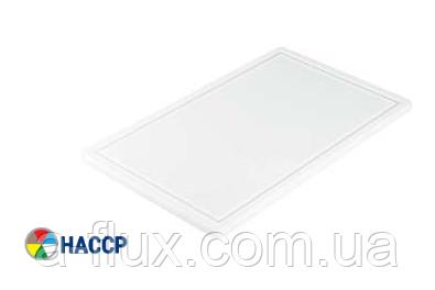 Доска разделочная белая 300х220х10 мм Stalgast 340300