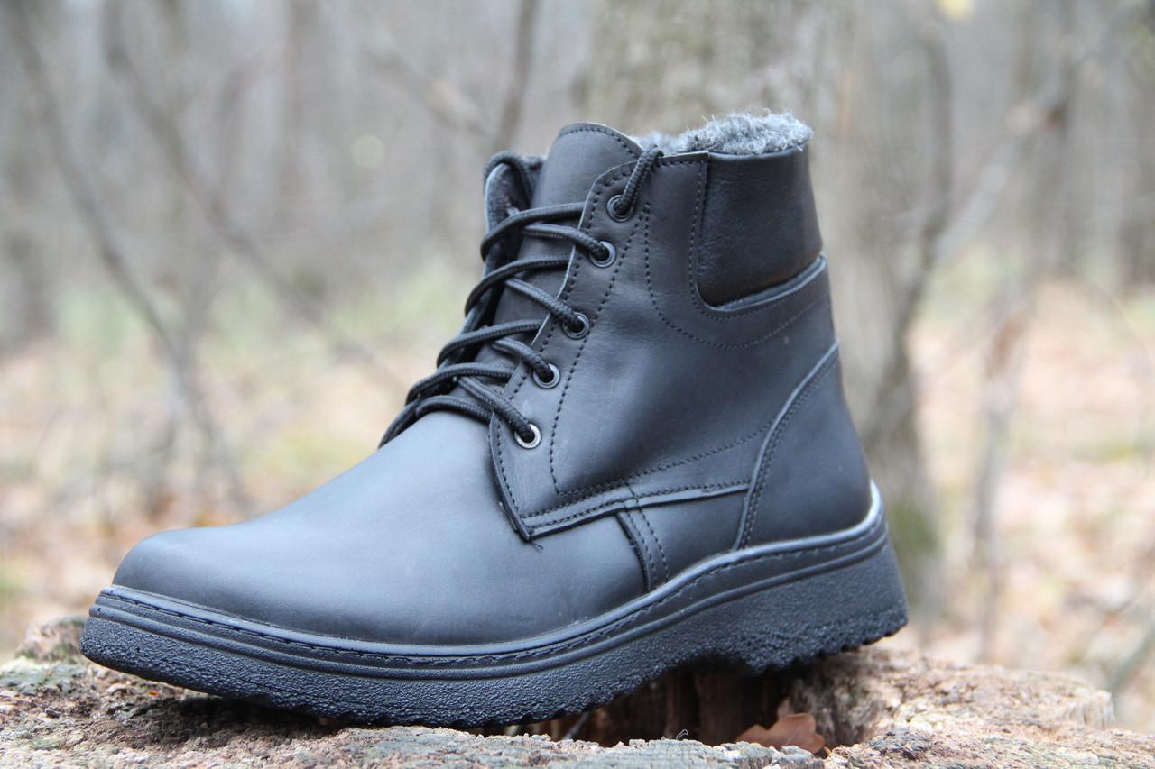 Мужские кожаные зимние ботинки Д 600