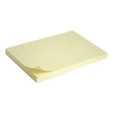 Блок бумаги с клейким слоем 75x125мм, 100л., Желтый. 2316-01-A