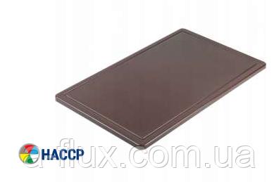 Доска разделочная коричневая 600х400х18 мм Stalgast 341636