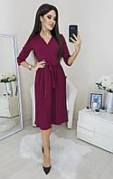 Женское нарядное плиссированное платье Норма и батал