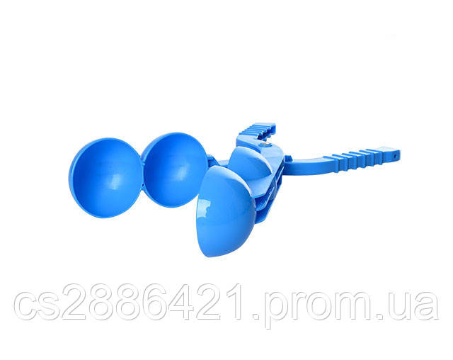 Снежколеп MS 1461Blue (Синий) 37см, двойной шар, пластик PP , в сетке, 38-8,5-7см (Синий)