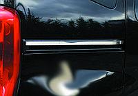 Peugeot Bipper 2008+ гг. Молдинг под сдвижную дверь (2 шт, нерж.)