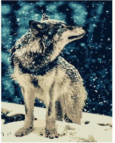Картина по номерам BRUSHME Одинокий волк