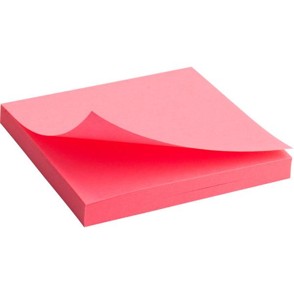 Блок бумаги с клейким шаром 75x75мм, 80шт, розовый  2414-13-A