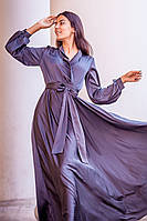 Длинное платье для полных большого размера (L, XL)