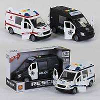 Машина WY 590 А/ WY 590 В/ 590 С (36) 3 вида, световые и звуковые эффекты, в коробке  [Коробка]