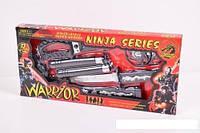"""Набор оружия """"Ninja"""" RZ1157 (60шт/2) меч, сюрикены, нунчаки, в кор. 45*21*3,5см"""