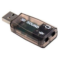 Внешняя звуковая карта Epik USB 5.1 3D Sound card Black