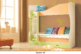 Кровать двухъярусная №1 Моби -1 Скай