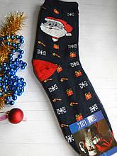 Чоловічі махрові новорічні шкарпетки