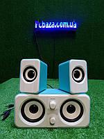 Стерео колонки USB, 3.5 мм jack для компьютера, ноутбука, работают от Power Bank, зарядника для телефона