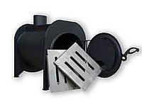 Буржуйка длительного горения с камерой дожига вторичных газов  с варочной поверхностью KOZAK топка на дровах