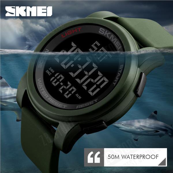 Skmei 1257 Army зеленые спортивные мужские часы