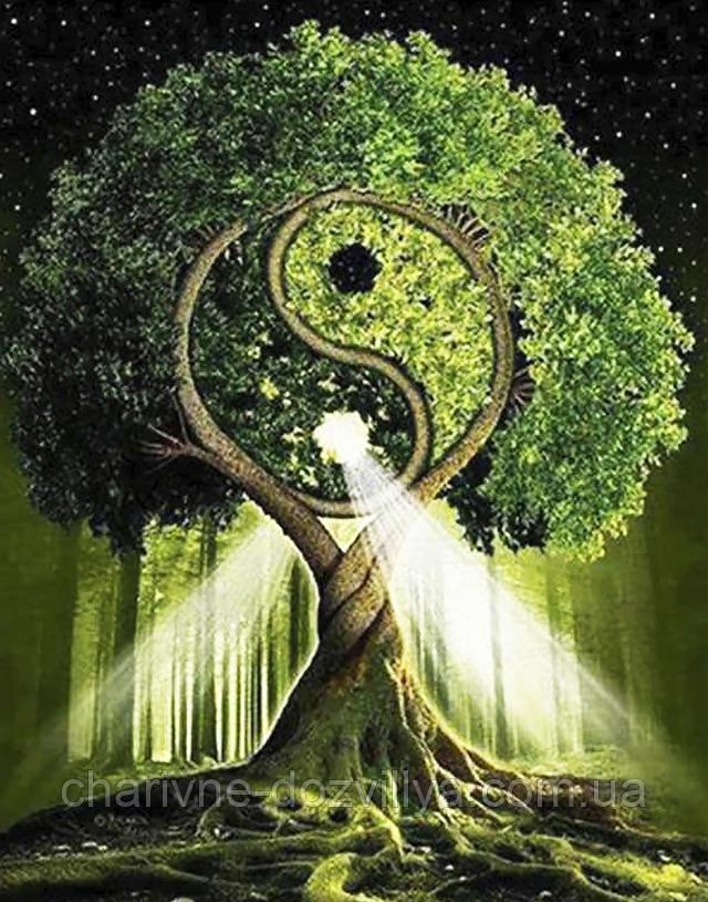 """Набор алмазной вышивки (мозаики) """"Дерево жизни - Инь и Янь"""""""