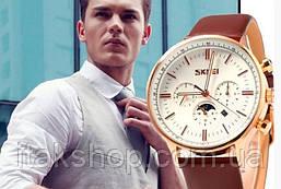 Мужские классические часы Skmei 9117 White Gold, фото 3