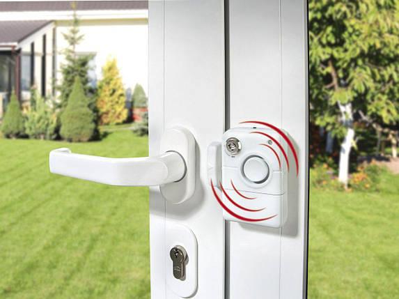 Портативная Мини Сигнализация Оконная Дверная Для Окон Дверей Страж Ревун Магнитная Беспроводная С Ключом, фото 2