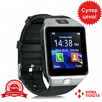 Умные часы DZ09 серебро Smart watch (silver)