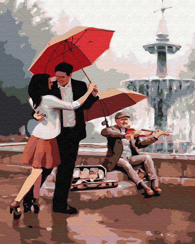 Картина по номерам BRUSHME Любовь у фонтана