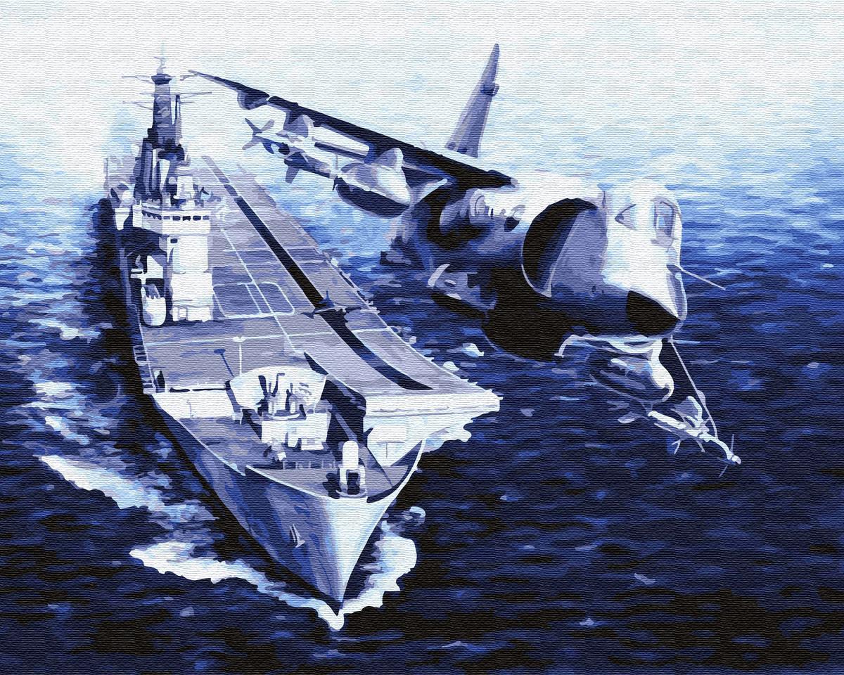 Картина по номерам BRUSHME Корабль и самолет