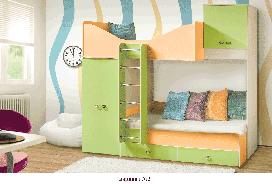 Кровать двухъярусная №2 Моби -1 Скай