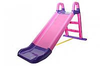 Гірка для катання дітей (фіолетова з малиновими вставками) 140 см 0140/05  (Ф)
