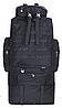 Тактичний туристичний рюкзак розсувний на 80-100 літрів TacticBag RVL XS100-1-чорний