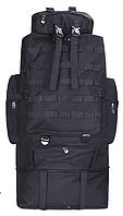 Тактичний туристичний рюкзак розсувний на 80-100 літрів TacticBag RVL XS100-1-чорний, фото 1