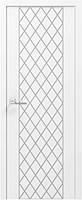 Фарбовані двері модель Ромб. Полотно+коробка+1к-т лиштв, зрощений брус сосни
