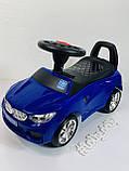 Машинка каталка-толокар BMW Bambi M 3147B с MP3, синий, фото 9