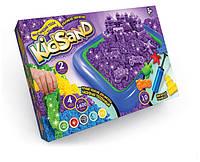 """Комплект креативного творчества 7450DT """"Кинетический песок KidSand"""" 1600г+песочница, развивающая игрушка, подарок ребенку"""