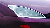 Ford Focus I 1998-2005 гг. Накладка на фары (2 шт, пласт.)