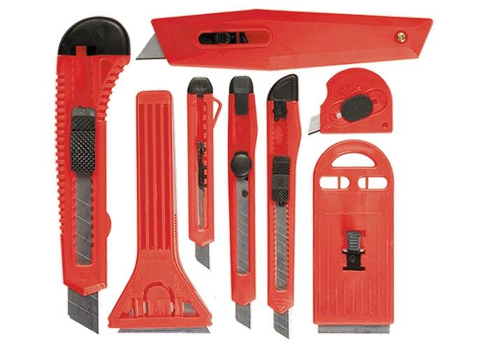 Набор ножей, выдвижные лезвия, 9мм-4, 18мм-2, + скребки выдвижные фиксированные лезвия, 40-52мм MTX 789919