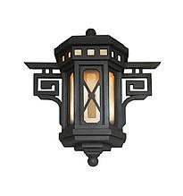 Уличный кованый фонарь на стену