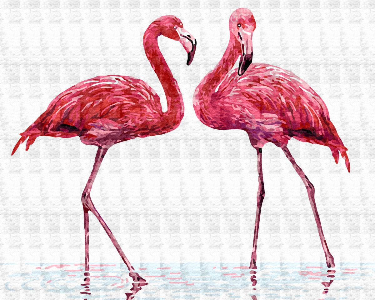 Картина по номерам BRUSHME Нежные фламинго