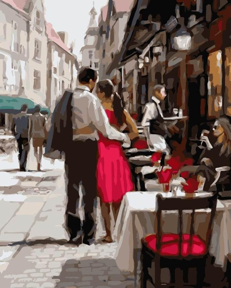 Картина по номерам BRUSHME Пара в Париже