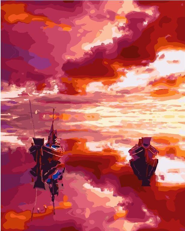 Картина по номерам BRUSHME Пылающее море