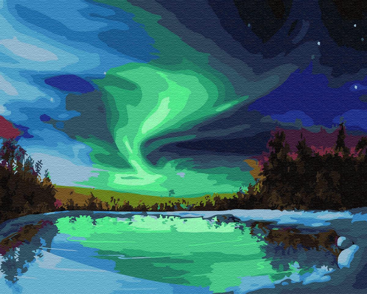 Картина по номерам BRUSHME Северное сияние