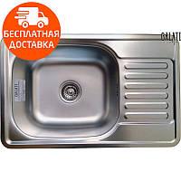 Мойка для кухни стальная Galati Bogna Textura 7894 нержавеющая сталь, фото 1