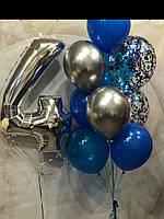 Набор из 9 шаров и Цифра с гелием ДР