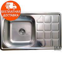 Мойка для кухни стальная Galati Eko Rodica Textura 8474 нержавеющая сталь, фото 1