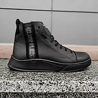 Philipp Plein мужские кожаные ботинки из натуральной кожи , очень теплые до -30°