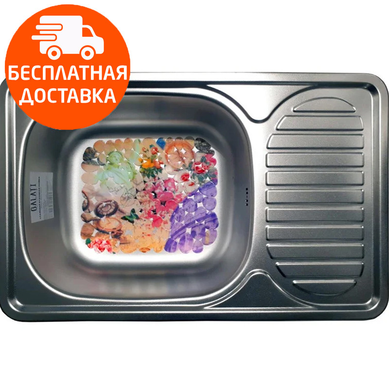 Мойка для кухни стальная Galati Mirela Textura 7136 нержавеющая сталь