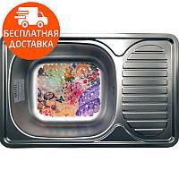 Мойка для кухни стальная Galati Mirela Textura 7136 нержавеющая сталь, фото 1