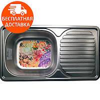 Мойка для кухни стальная Galati Anka Textura 7141 нержавеющая сталь, фото 1