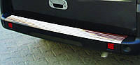 Fiat Doblo I 2001-2005 гг. Накладки на задний бампер OmsaLine (нерж.)