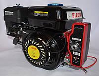 Двигатель бензиновый BIZON GX-220 170FE 7.5 л.с с электростартером вал 20 мм шпонка (чёрный)