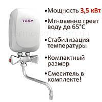 Водонагреватель Tesy проточный 3,5 кВт со смесителем IWH 35 X02 KI