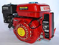 Двигатель бензиновый BIZON GX-220 170FE 7.5 л.с с электростартером вал 20 мм шпонка (красный)