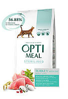Сухой корм Optimeal Adult Sterilised Turkey 10кг